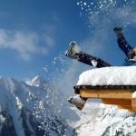 Werbefoto Schnee Dach